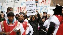 Protest bei Deutscher Welle
