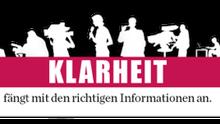 """Logo mit Schriftzug """"Klarheit fängt mit den richtigen Informationen an"""""""