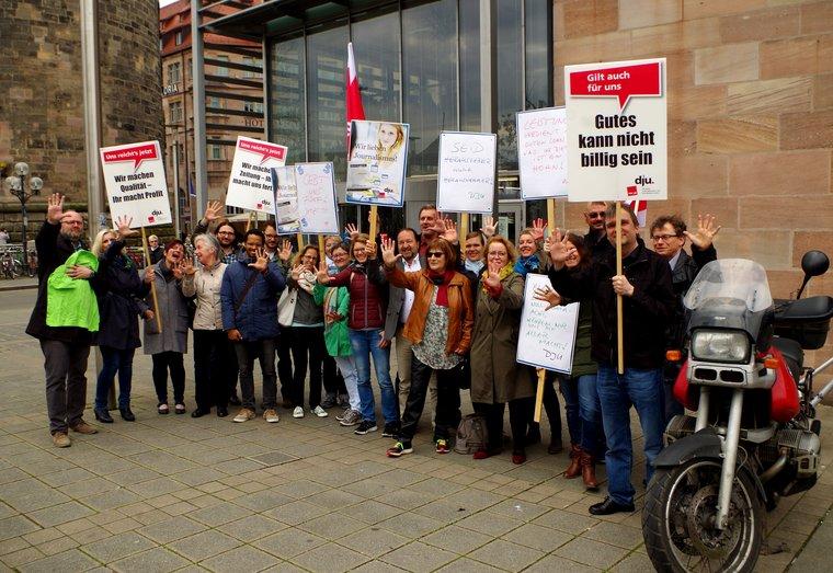 Aktion in Nürnberg