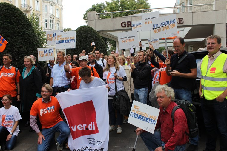 Demo zu Tarifverhandlungen im Norden