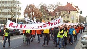 Protestzug in Bielefeld