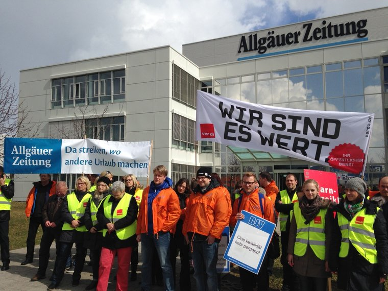 Warnstreik in Kempten