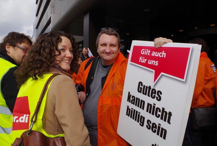 Sarah Benecke im Streik