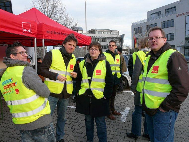 Streik in Frankfurt