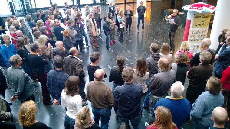 Protest bei der Süddeutschen Zeitung