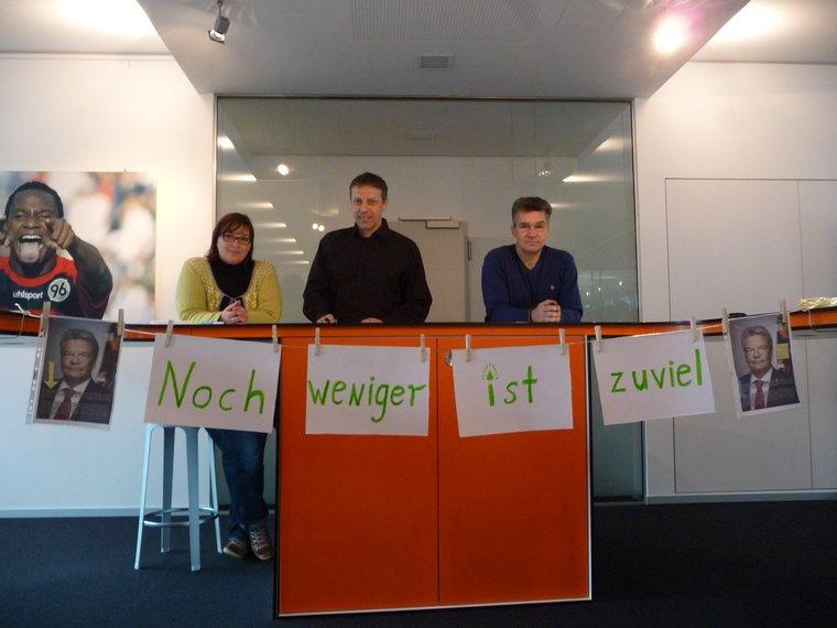 Aktion bei der Neuen Presse Hannover