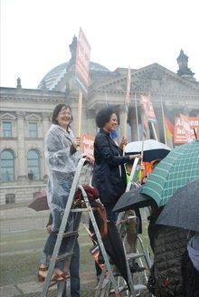 Demo trotzt dem Regen