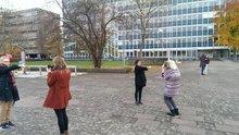 Mit dem Fotoapparat unterwegs auf dem Campus Mainz