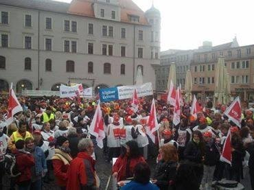 Protest in Augsburg bearbeitet