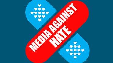 Logo der EJF-Kampagne Media against Hate