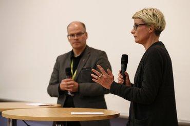 Peter Freitag und Conny Haß beim Journalistentag 2017