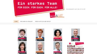 Screenshot der Website zur Personalratswahl im ZDF