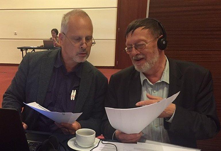 Joachim Kreibich und Wolgang Mayer bei der IJF-Tagung