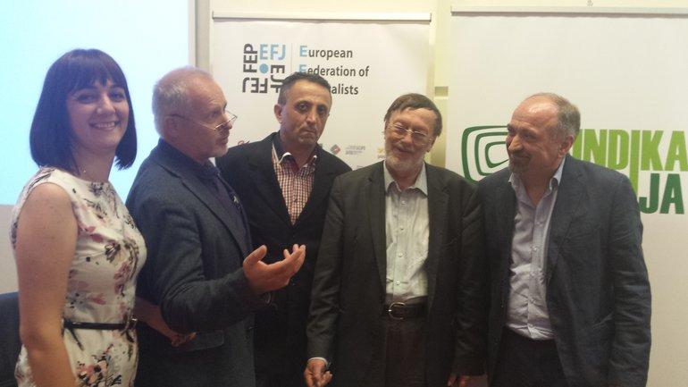 EJF-Treffen in Montenegro mit Berichterstattern vom Balkan