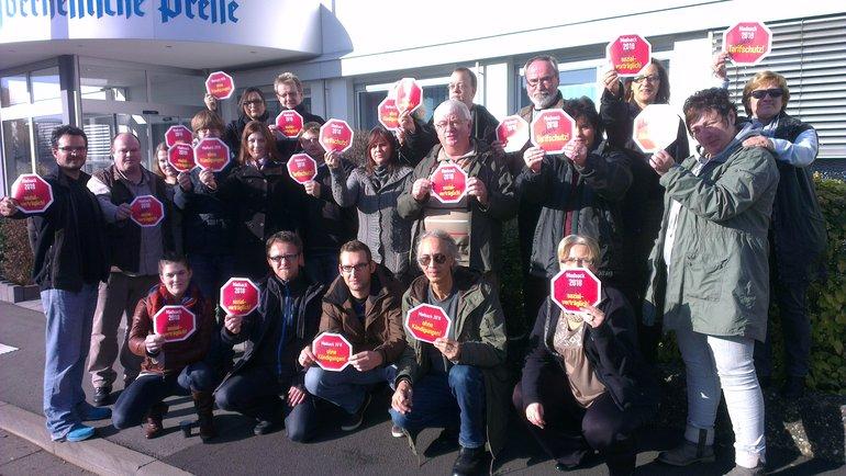 Mittagsaktion vor der Hannoverschen Presse