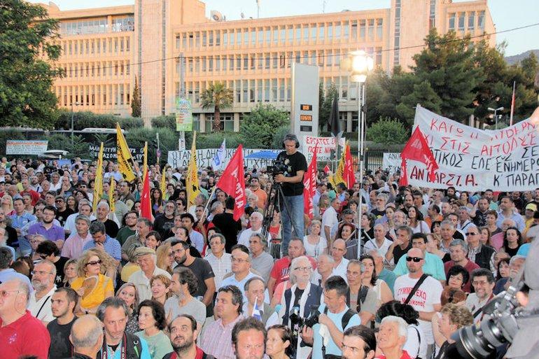 Protest in Athen ein Jahr nach Schließung von ERT