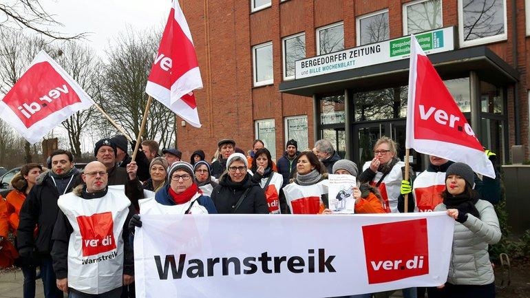 Streik bei Bergedorfer zeitung