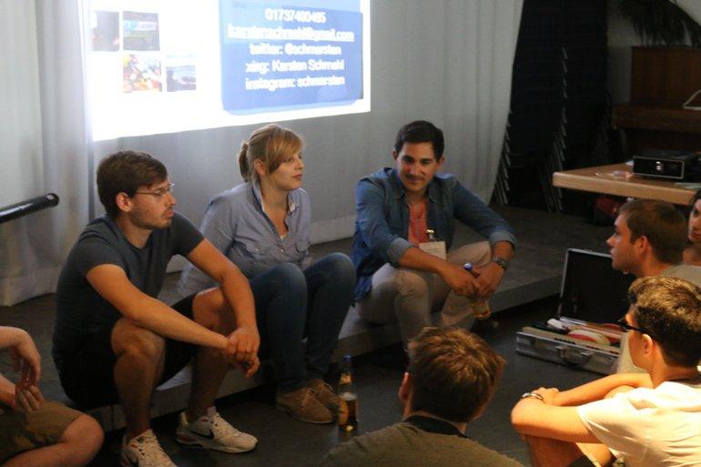 Fuß-Fassen-Tour in Frankfurt 2014