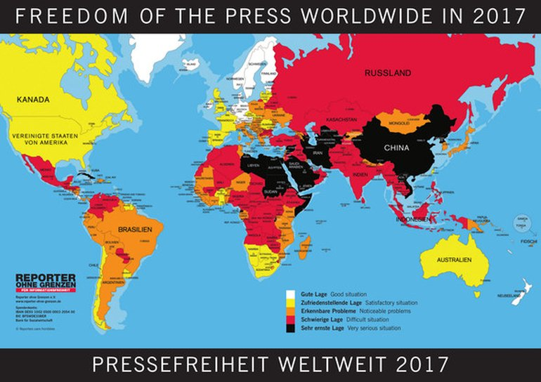 Freedom of Press Worldwide 2017
