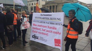 Streikende von Stuttgarter Zeitung/Stuttgarter Nachrichten