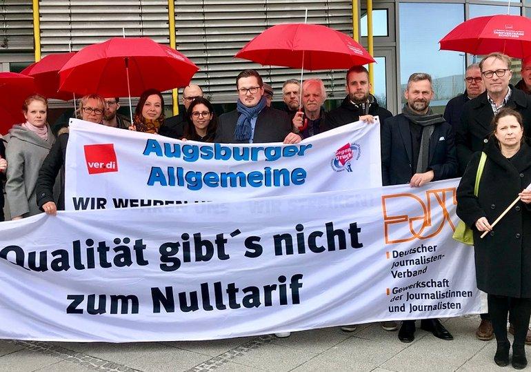 Warnstreik bei der Augsburger Allgemeinen