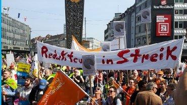 Redakteure im Streik