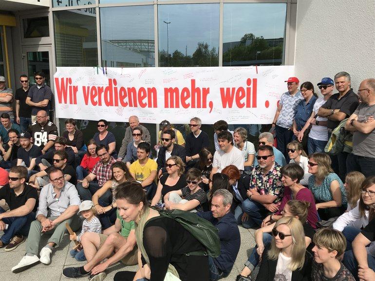 Warnstreik in Augsburg 23. April 2018