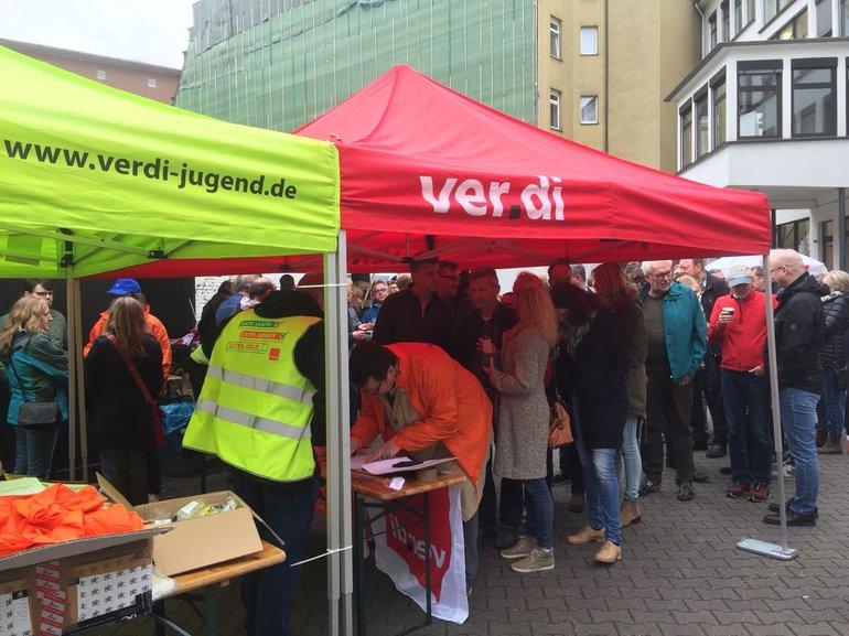 Essen Streik am 24.4.2018