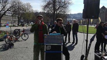 Streik-Rap in Stuttgart