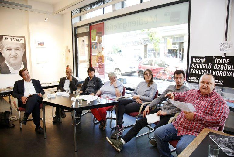 Diskussion in der MedienGalerie zur Pressefreiheit in der Türkei