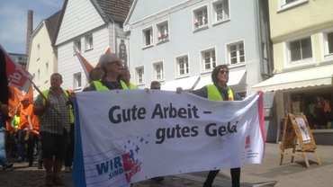 Protestmarsch in Unna