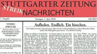 Stuttgarter Streikzeitung 1. Juni 2018