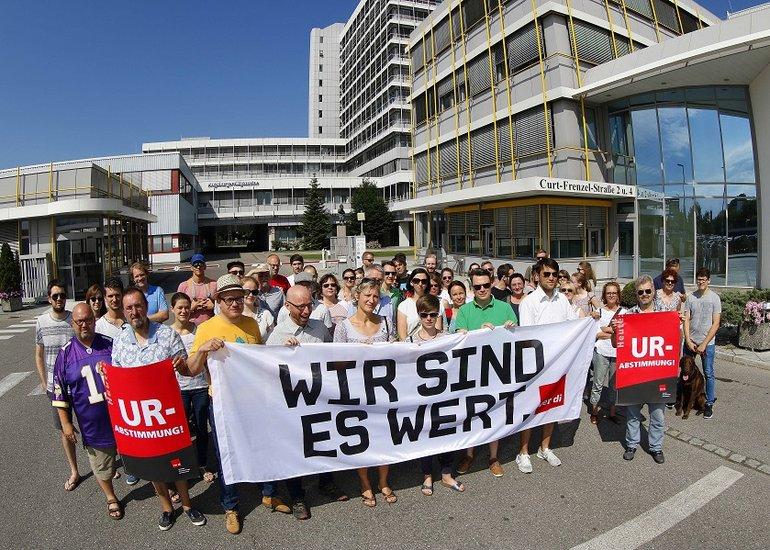 Streik und Urabstimmung in Augsburg 21 6 2018