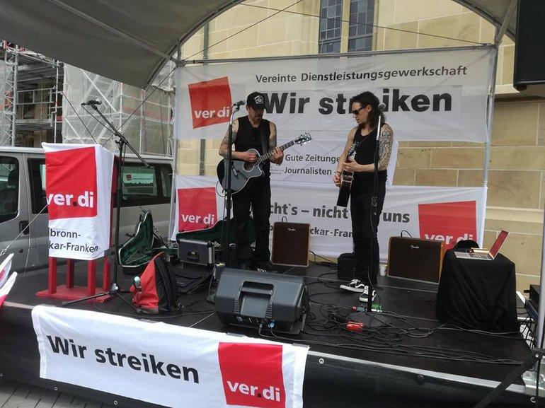 Souncheck auf dem Kiliansplatz in Heilbronn 29..6. 2018