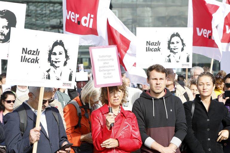 Demo auf dem Washingtonplatz