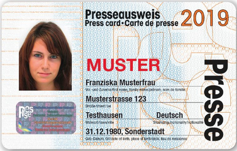 Presseausweis 2019