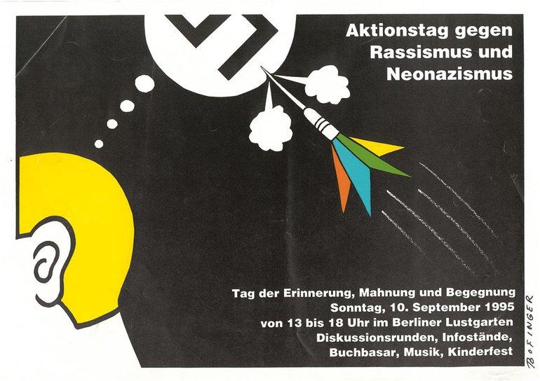 """Plakat """"Aktionstag gegen Rassismus und Neonazismus"""