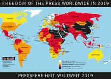 Weltkarte der Pressefreiheit 2019