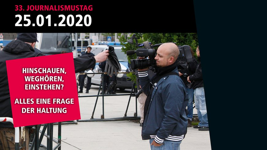 Flyermotiv des Journalismustags 2020
