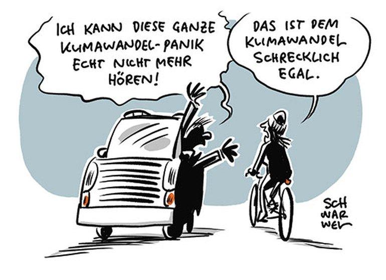 Karikatur zur Umwelt von Schwarwel