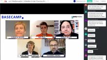 Das Podium beim virtuellen Mediensalon am 29. April 2020