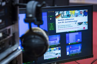 Technik beim digitalen Journalismustag